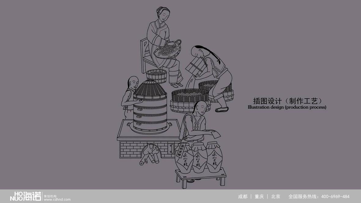 永川豆豉工艺图-场景插画-手绘插画-作品集-海诺公司